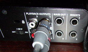 Audio outputs and Insert connection ports