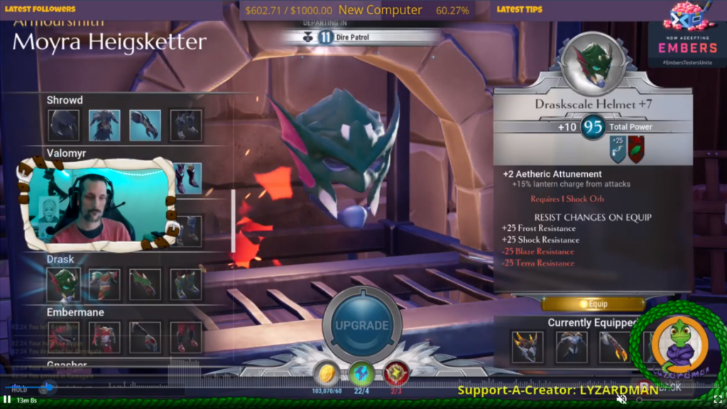 Lyzardman's Overlay during the Mix it Forward's charity stream for The Trevor Project.