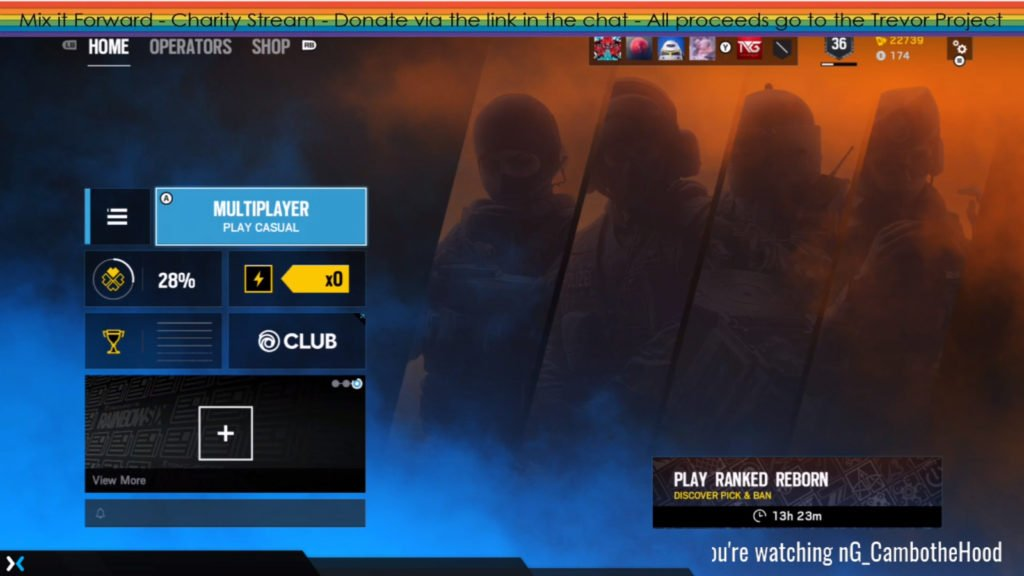 nG_CamboTheHood's overlay during the Mix it Forward charity for the Trevor Project.
