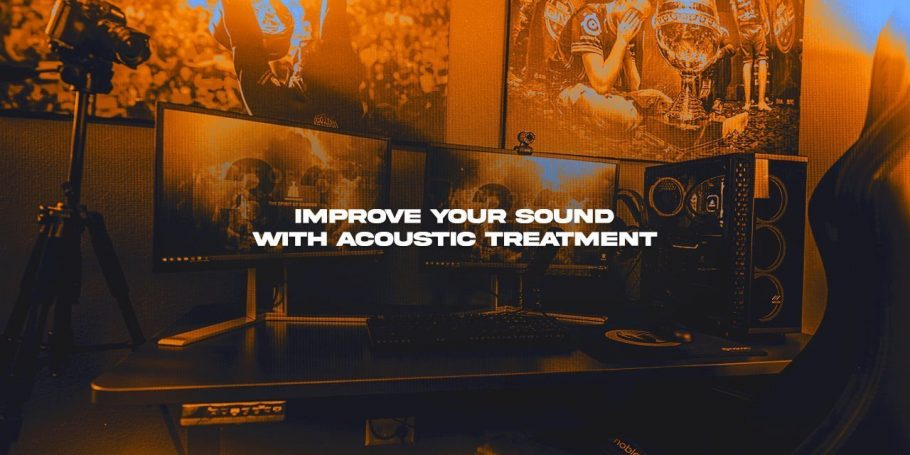 Improve the Sound of your live stream with room acoustics treatment