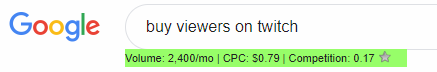 "Over 2,400 of you guys are searching ""buy viewers on twitch."" on google. Don't do this!"