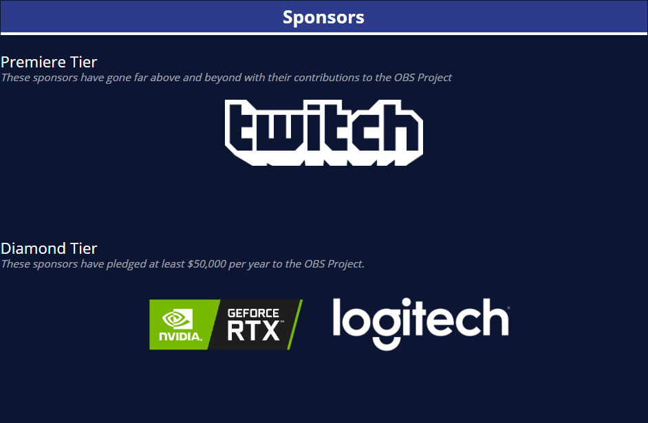 Logitech is a sponsor of the OBS Studio Project. Now that they have acquired Streamlabs, They have more control over the project's fork.