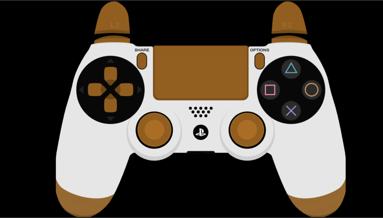 Dual Shock 4 Color Corrected brown