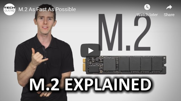 Tech Quickie Ft. Linus Sebastian, explaining M.2 SSD drives.