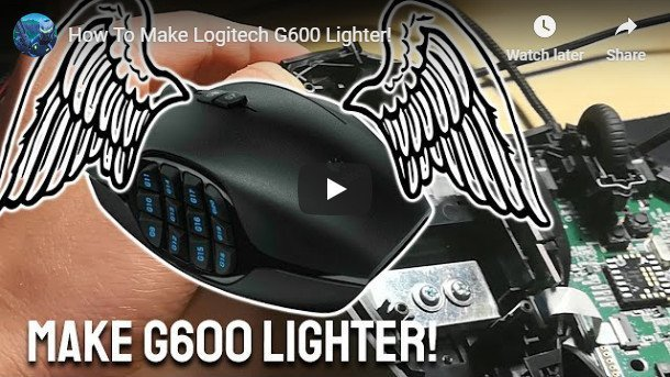 Make Logitech G600 Lighter video tutorial.