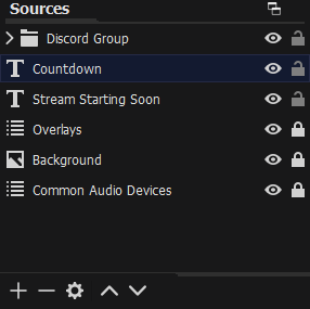 The Sources within a OBS Scene