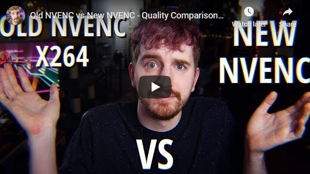 New NVENC vs Old NVENC Comparison Video by EposVox