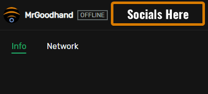 An idea for placement on the Trovo UI for Socials as a potential planned feature.