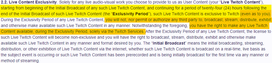 The Twitch Affiliate agreement is something you need to read