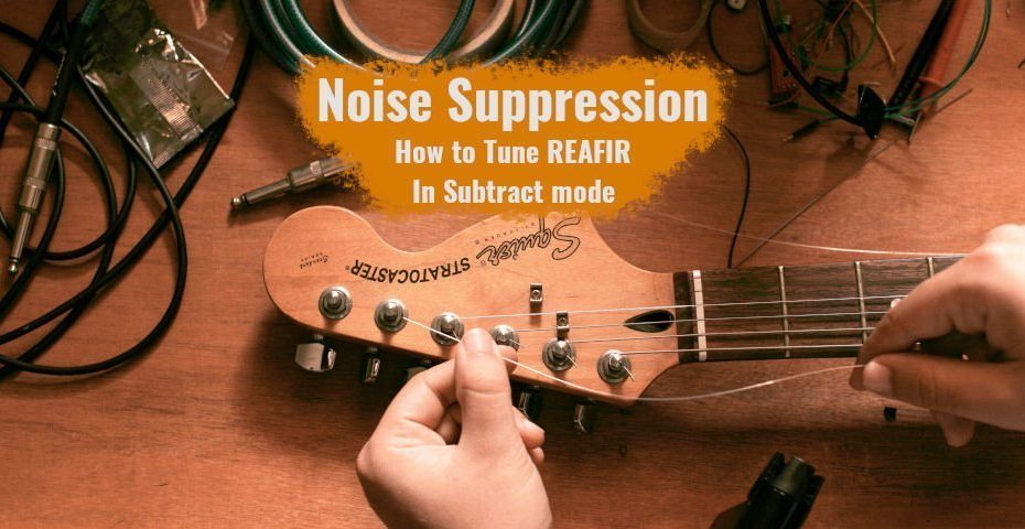 How to tune the noise suppression feature in Reafir for OBS Studio