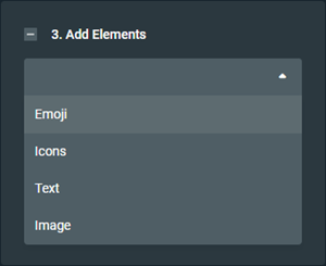 Element selector in the Streamlabs YouTube Thumbnail editor