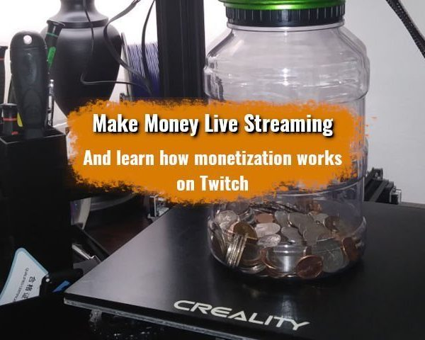 Picture of Ender 3 Pro with a jar of money; implying