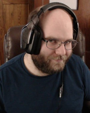 Me wearing the Logitech G933, one of the best headsets I have ever used.
