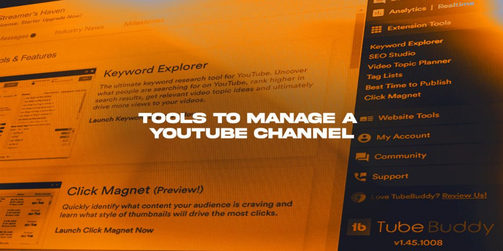 Tools to manage a YouTube Channel