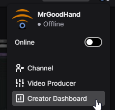 Access the Creator Dashboard on Twitch to Add a moderator on Twitch