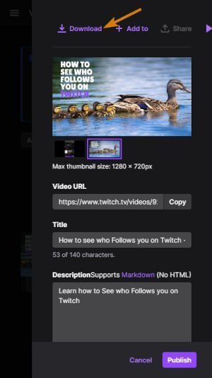 How to download your Twitch Streams on Mobile