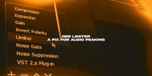 Use the OBS Limiter filter to help fix peaking