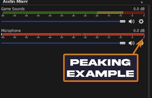 The OBS Limiter can fix peaking in OBS