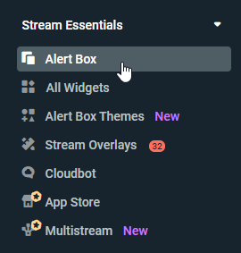 Streamlabs Alertbox Menu