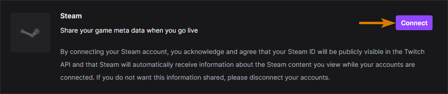 Connect Steam to Twitch Drops