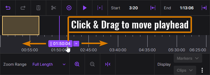 How to move the Playhead of the Twitch Highlight Editor