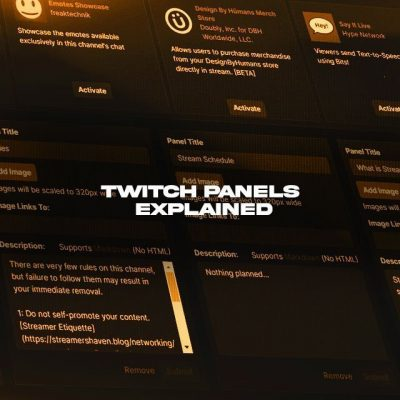 Twitch Panels Explained
