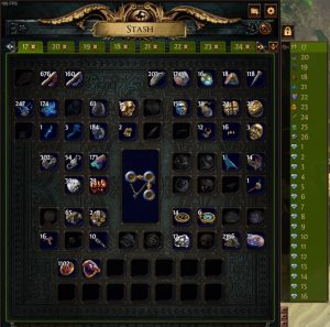 The Currency tab in Path of Exile