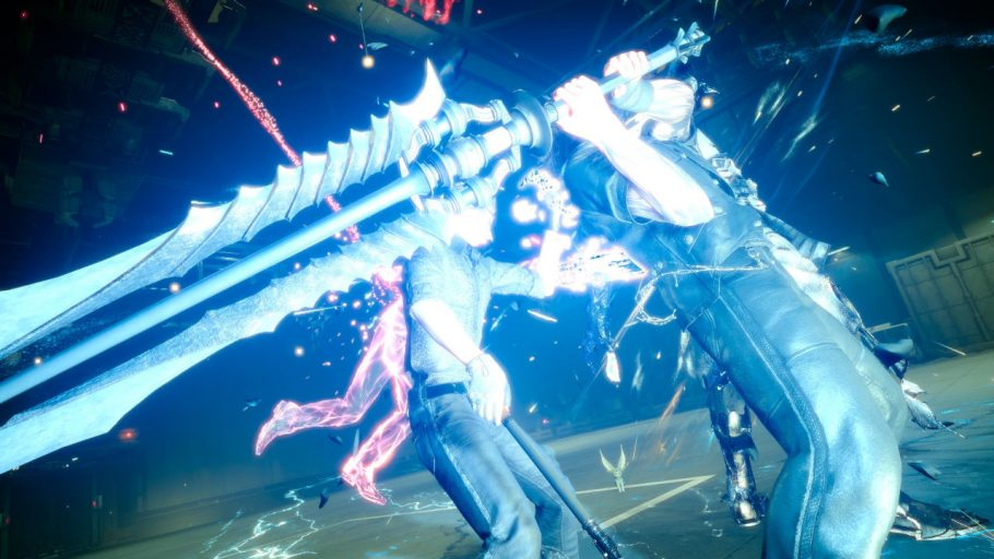 One of Gladios Sword Close up in battle - Final Fantasy 15 Review