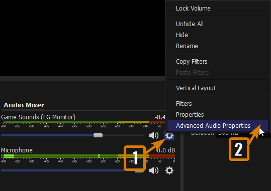 How to Access the Advanced Audio Properties in OBS