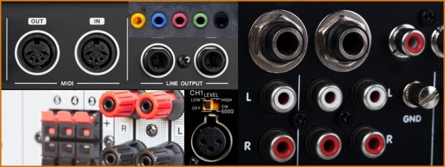 Outputs of an Audio Interface are varied