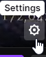Settings cog on Twitch
