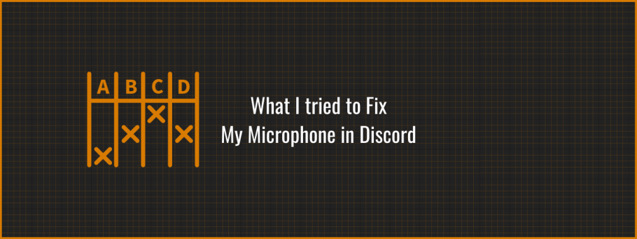 What I tried to Fix the inability to speak on Discord