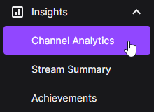 Channel Analytics for Twitch