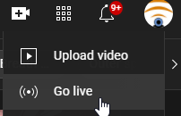 Go live on YouTube