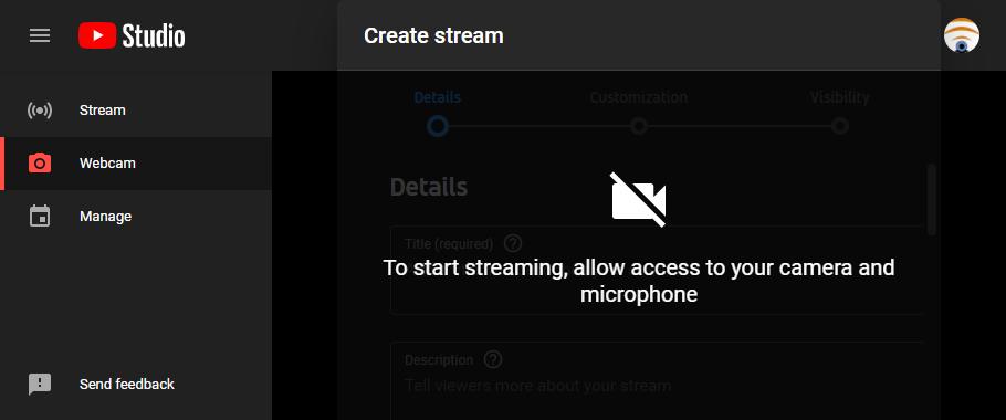 How to Stream on YouTube only using a Webcam and your Browser