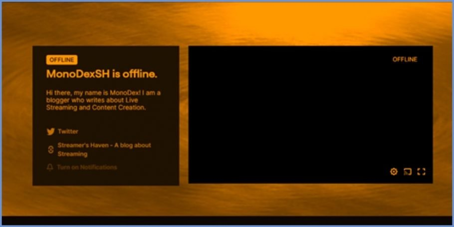 Twitch Profile Banner shown on my Twitch page when I'm offline